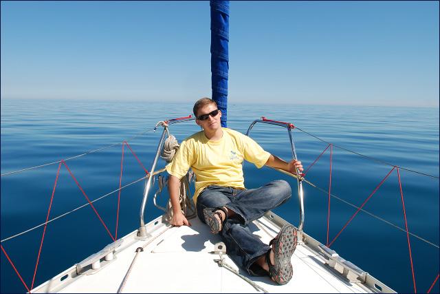 KMiNT21 на яхте в Крыму (Ялта, 2007)