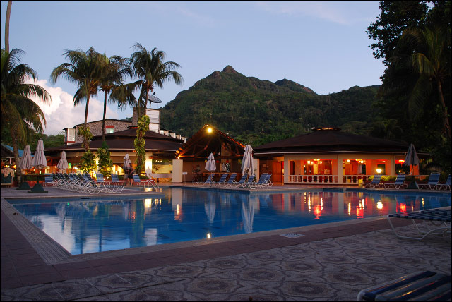 Swimming pool on Mahe, Seychelles