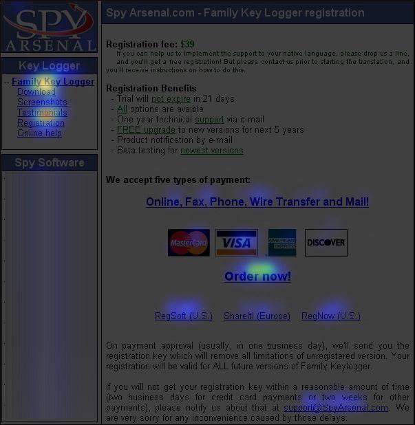 продажи софта - клики регистрации