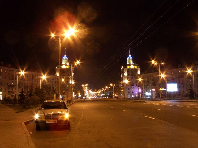 ночное Запорожье - проспект