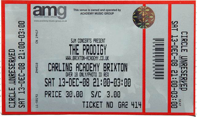 the prodigy ticket