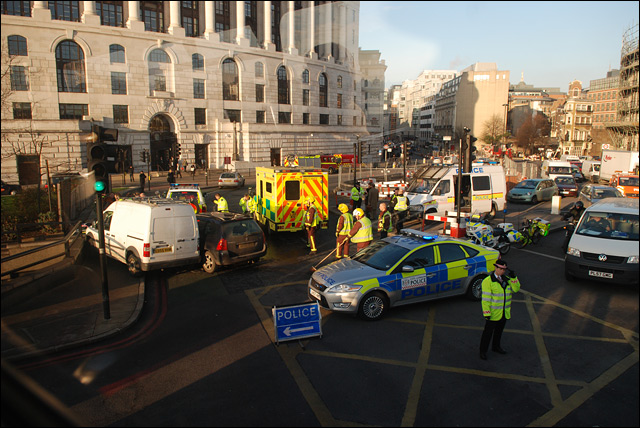 london traffic accident