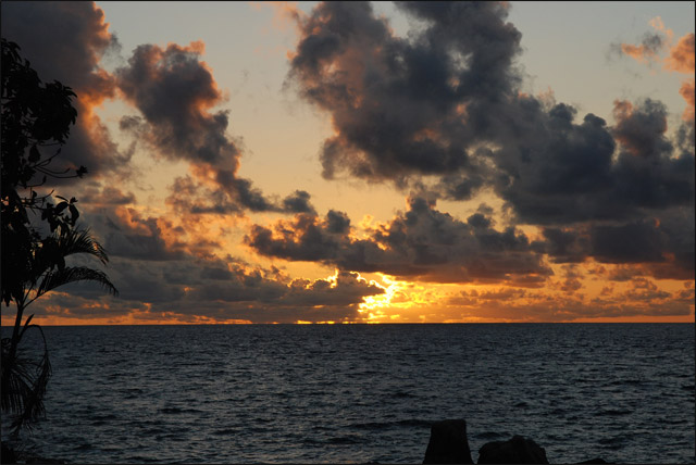 Закат, Индийский океан